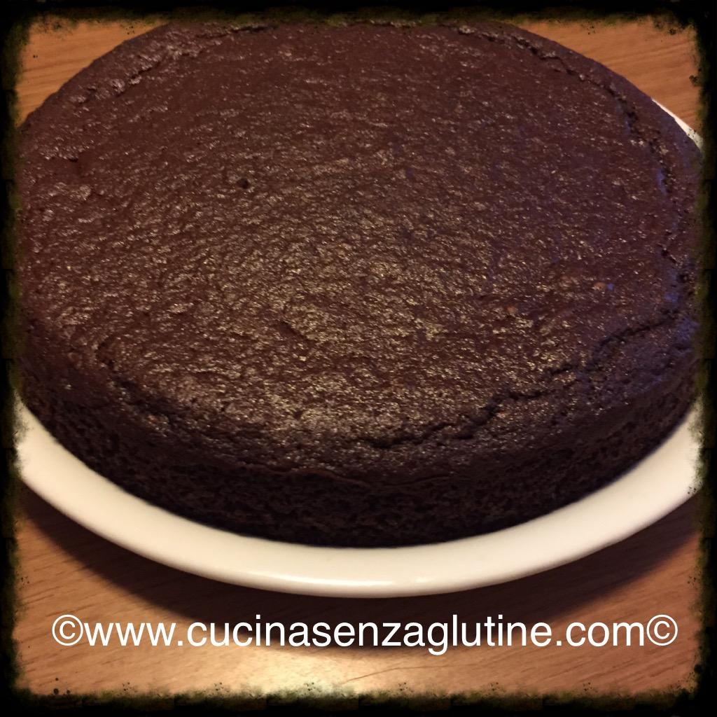 Torta semplice al cioccolato senza glutine