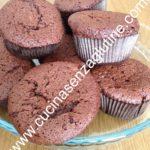 Muffin al cioccolato senza glutine e senza lattosio